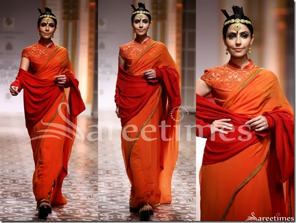 Azva_Orange_Saree