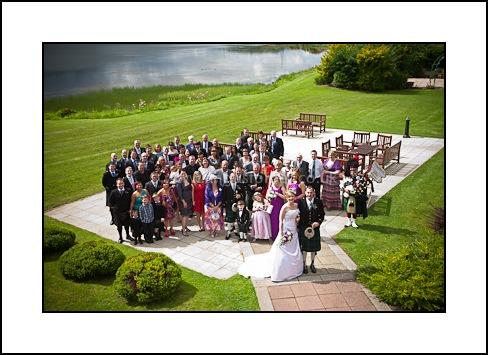 wedding guests at piperdam resort dundee