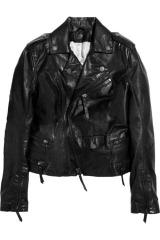 Karl Ordina leather biker jacket