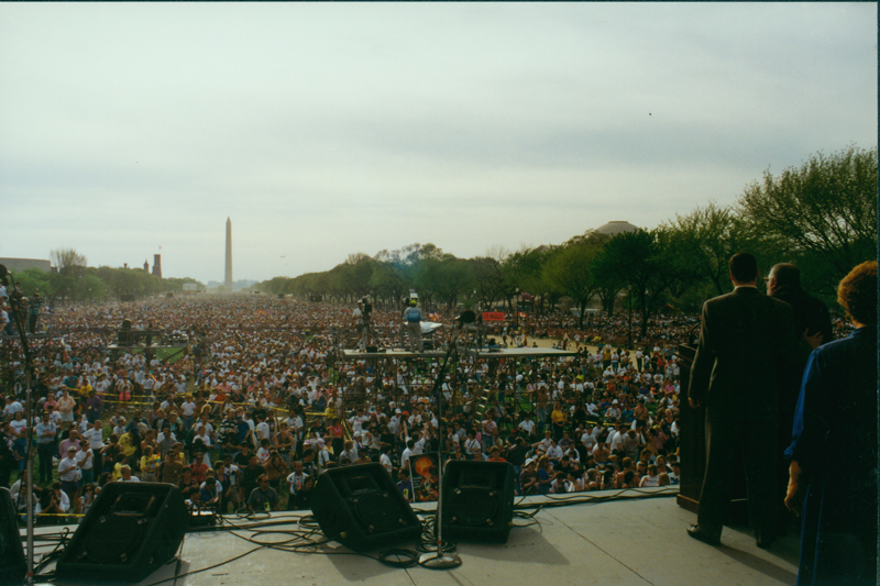 Crowd at the March on Washington. April 25, 1993.
