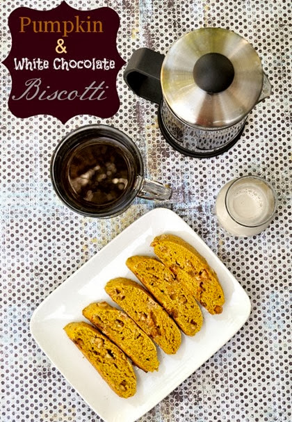 Pumpkin and White Chocolate Biscotti