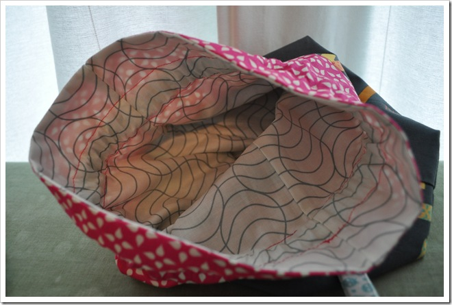 Washi drawstring bag lining