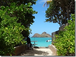 オアフ島のビーチ
