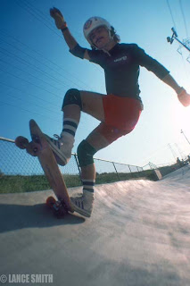 A little tail action at Carlsbad Skate Park.