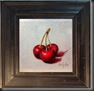 Cherries framed 6x6
