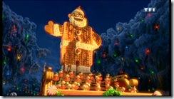 père Noël en gaufres