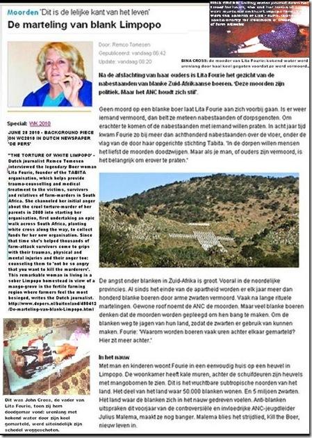 TABITA De slachting van blank Limpopo LITA FOURIE Nederlands artikel