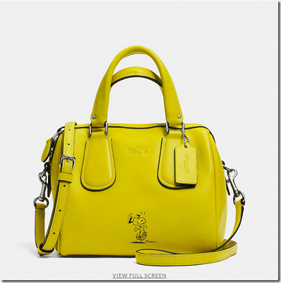 COACH X Peanuts mini surrey satchel - USD 350 - silver yellow