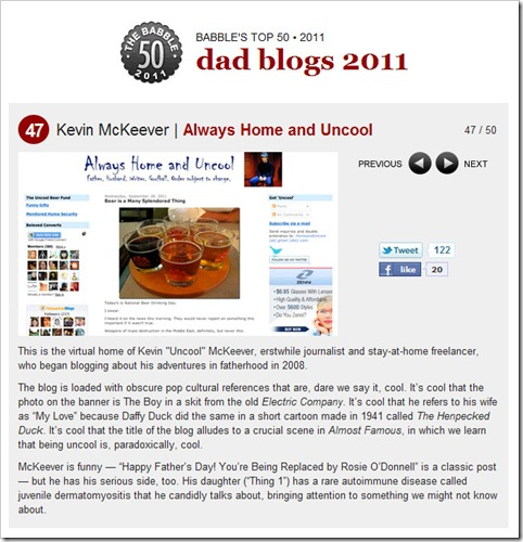 babble top 50 dad blogs