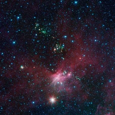 estrelas recém-nascidas expelem jatos de poeira