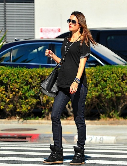 alessandra-ambrosio-carrying-Celine-bag-wearing-Isabel-Marant-Wedge-Willow-Sneakers-2