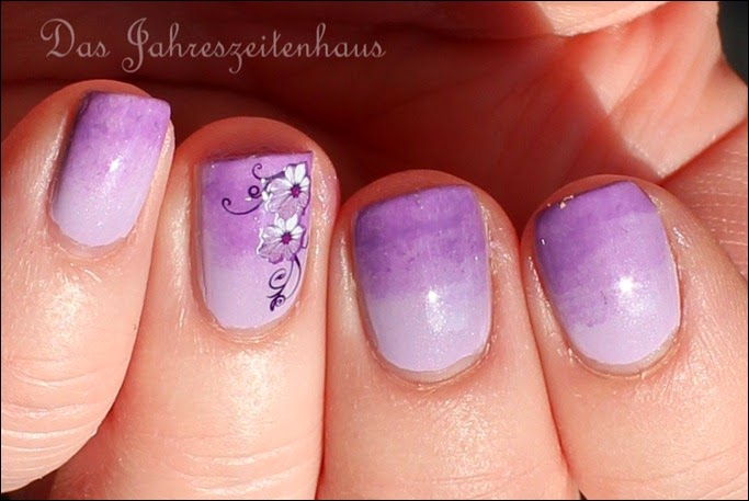 Flieder Blume Nageldesign 6