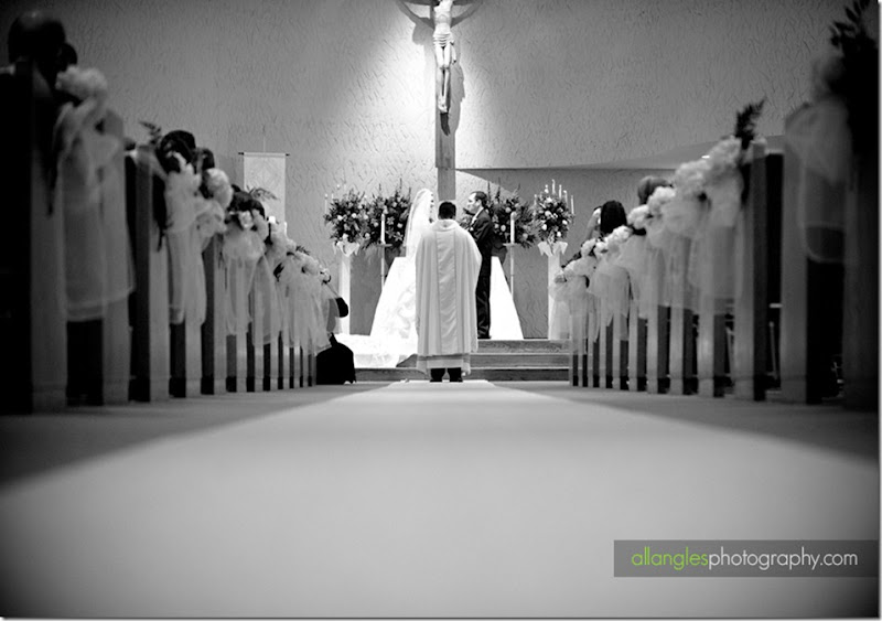 Louisville Real Wedding - St Peter the Apostle Catholic Church by AllAnglesPhotography.com