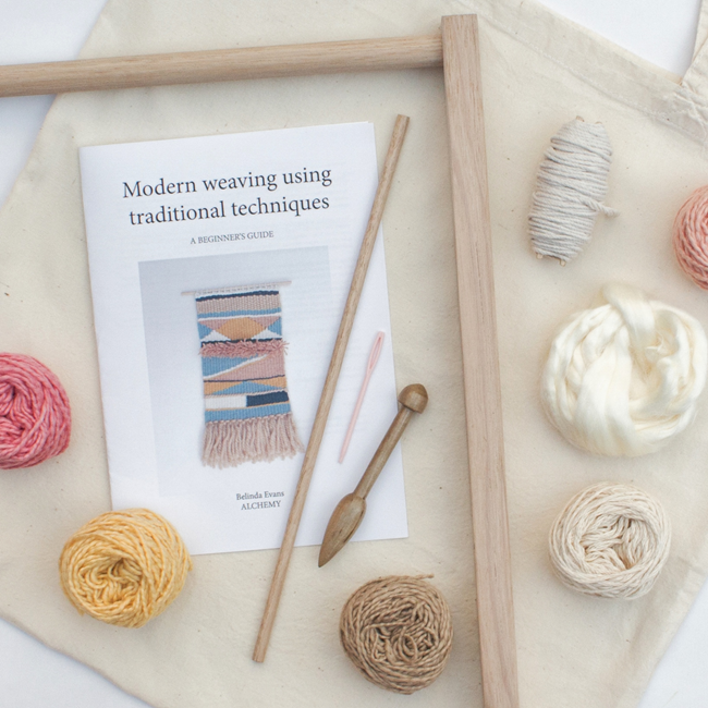Eco Weaving Kit by Alchemy  - Beginner's Guide to Tapestry Weaving