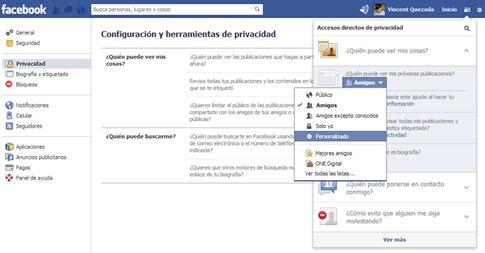 Personalizar publicaciones de perfil de Facebook