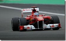Alonso nelle libere del gran premio di Germania 2011