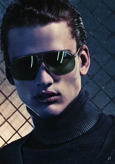 Simon Nessman by Mario Sorrenti for Emporio Armani Collection, F/W 2011-12