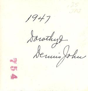 Dorothy and Dennis John 1947 three DL