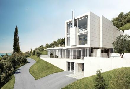 Proyecto de una casa en villa gardone de richard meier for Casa moderna gardone
