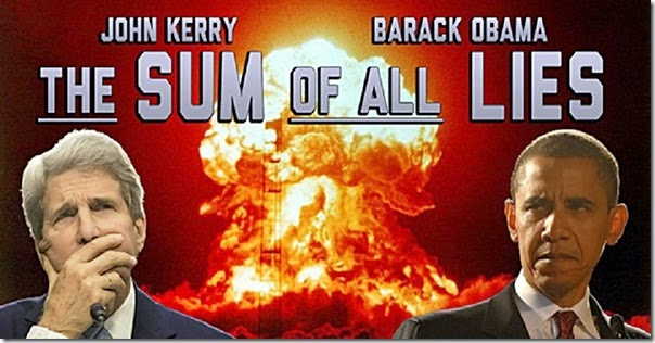 Sum of all Lies Kery-Obama foto