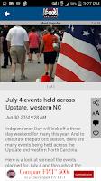 Screenshot of FOX Carolina News