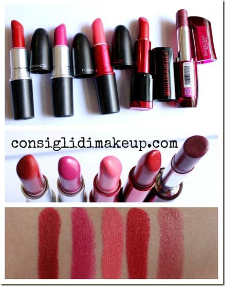 Top 5 Rossetti del momento–Collaborazione con Sunny Makeup