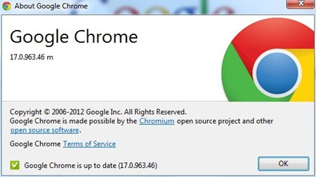 google chrome update feb 2012 -