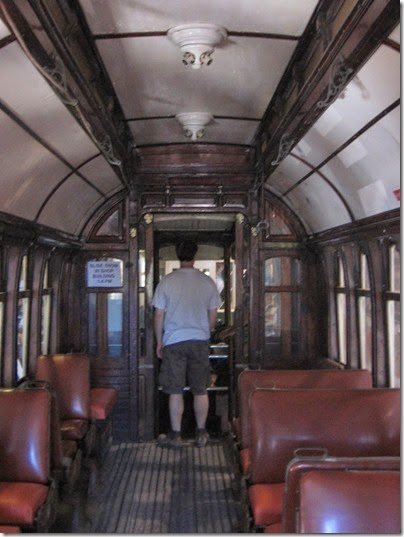 IMG_8095 Interior of Oporto Brill Streetcar #201 at Antique Powerland in Brooks, Oregon on August 4, 2007