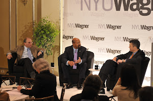NY Times political reporter Adam Nagourney, Philadelphia Mayor Michael A. Nutter and NBC's Mark Whitaker