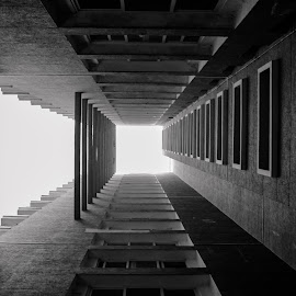 illusion in Architecture...  by Srirama Ravi Teja. B - Buildings & Architecture Office Buildings & Hotels ( b & w photography, black & white, buildings, office building, architecture, photography, hotels )