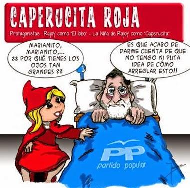 Rajoy y caperucita