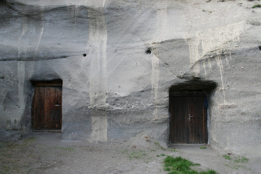 Hrusov, caves carved into volcanic ash