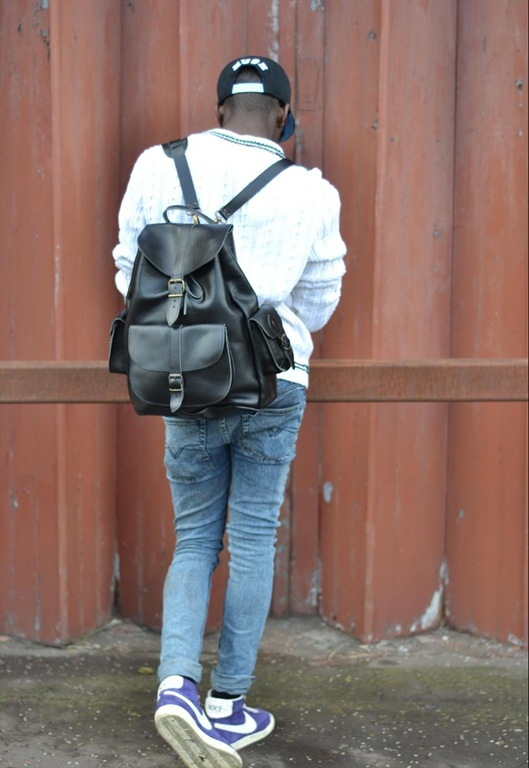 Leather Rucksack Backpack, £150, Grafea