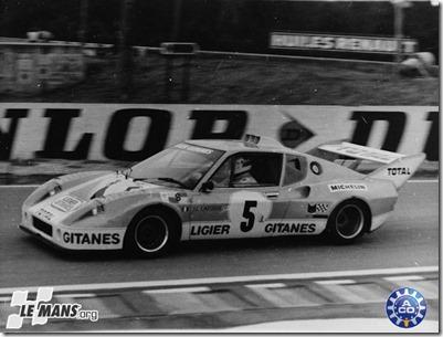 1975 24 HEURES DU MANS #5 Ligier (Automobiles Ligier Gitanes) Jean Louis Lafosse (F) - Guy Chasseuil (F)   res02