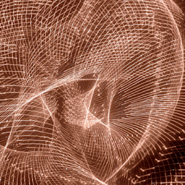 laser webs ! by Jim Barton - Abstract Patterns ( webs, laser light, light design, laser design, brown, laser, light, science )