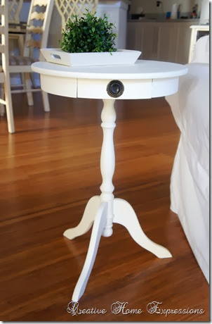 Perfect Little Round Table Makeover