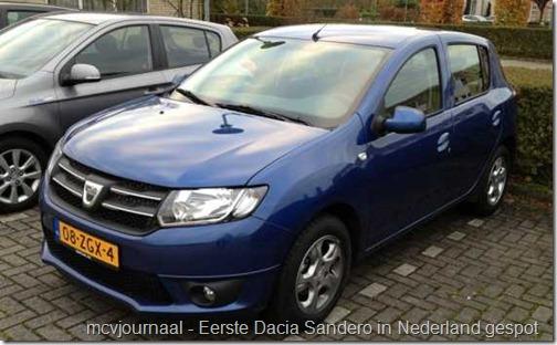 Eerste testen Dacia Sandero 01