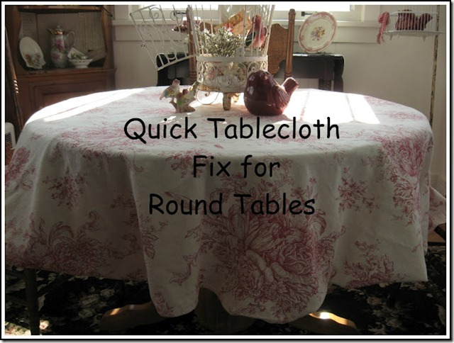 table cloth fix