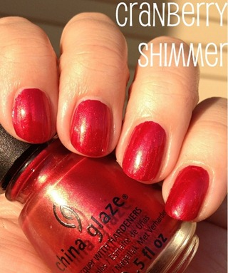 China Glaze Cranberry Shimmer