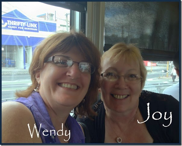 Wendy and Joy on tram