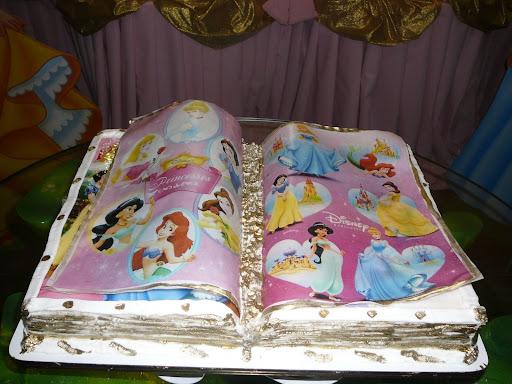 Bolo Livro Aberto Princesas   Bolo Princesas Livro Aberto