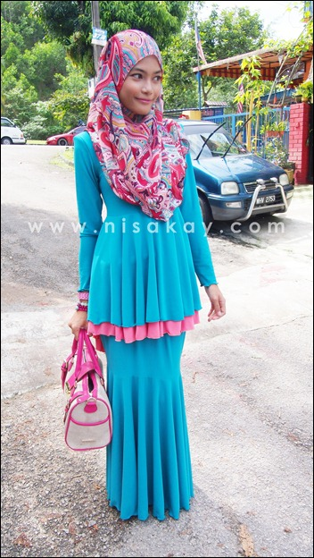Nisa Kay Kurung Riana Peplum Layer Fishtail From Meena Boutique House