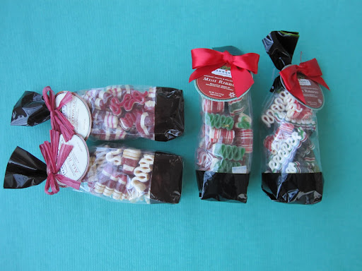 If you do not want to eat large candy ribbon, these bags from Hammonds have the perfect size candy ribbon packaged inside.