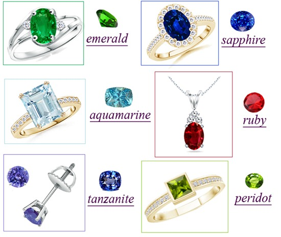 Organic Gemstones Jewelry