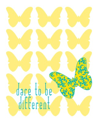 Quote Art Dare to be Different ColorBee