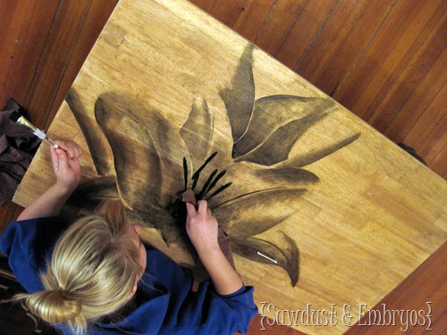 Using Wood Stain to make ARTWORK! {Sawdust and Embryos}