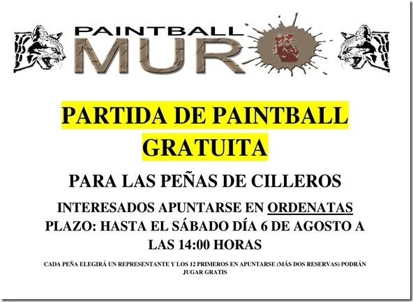 PARTIDA DE PAINTBALL GRATUITA