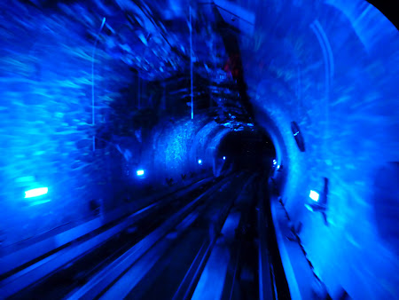Obiective turistice Shanghai: trenul subteran Bund - Pudong