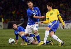 Hasil Laga Brazil vs Italia