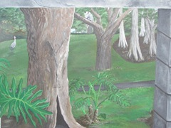 Florida Marriott Cypress Harbour outside wall mural3